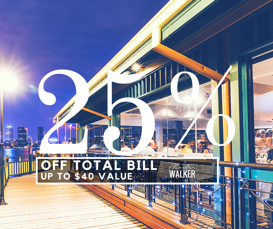Enjoy 25% off your total bill at Mister Walker with your Entertainment Membership